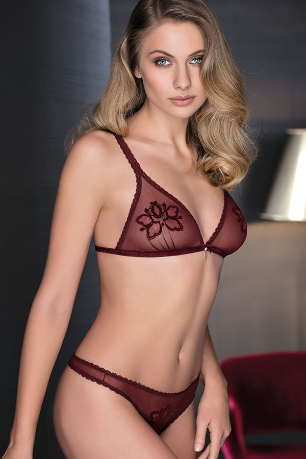Leilieve Hot edition Fall Winter 2017/18: Reggiseno M7010 - Unlined bra no underwire Perizoma M7310 - String