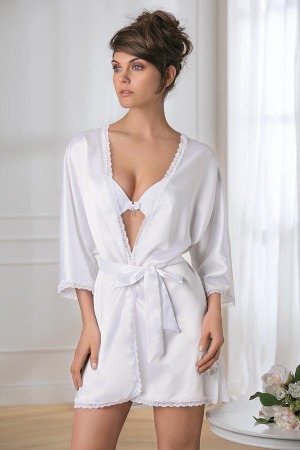 Collezione sposa My Luxury: Kimono Tg S-M-L-XL Colori: Bianco/Nero/Seta