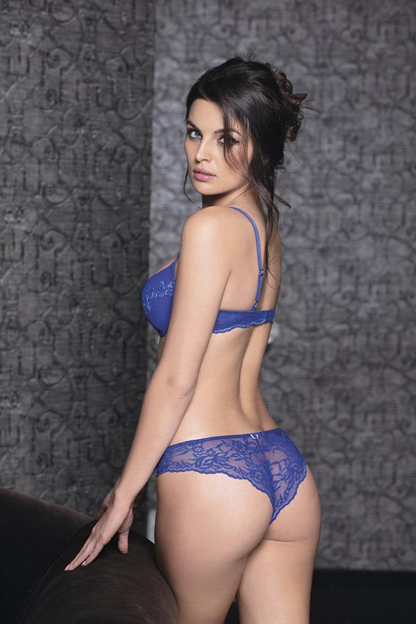 Collezione Magnifique by Leilieve - 2506 Brasiliana - Tg 1/6 - Colore: Nero-nudo / Nero-rubino
