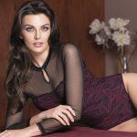 Collezione Magnifique by Leilieve - 2806 Body manica lunga - Tg S/M/L/XL - Colore: Nero-nudo / Nero-rubino